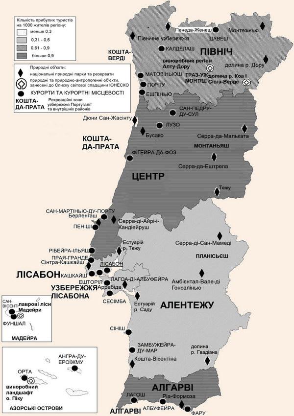 Рекреаційні ресурси Португалії
